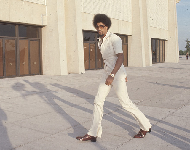 Julius Erving entering Nassau Coliseum before a 1976 Nets-Nuggets game. (Manny Millan/SI) GALLERY: Rare Photos of Julius Erving