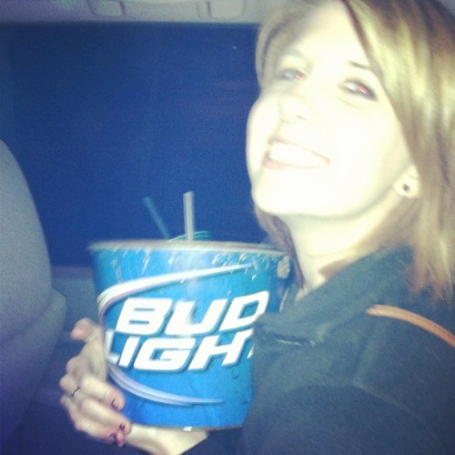 Sometimes I'm a clepto. #budlight #buckets #drunk