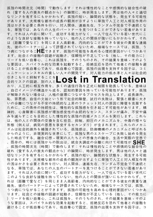 visual—journal:  Lost In Translation