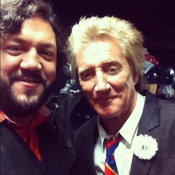 Watch Rod Stewart & I sing Christmas songs with CeeLo tonight on TV Guide Network at 8/7c.
