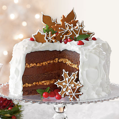 Christmas Gingerbread Toffee Cake Recipe
