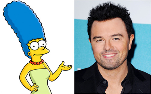 "The universe is collapsing in on itself: Seth MacFarlane is guesting on The Simpsons! He'll appear next fall in the series' 25th season premiere. In the episode, titled ""Dangers on a Train,"" Marge mistakes an Ashley Madison-type website for a Dolly Madison-type cupcake site, not realizing that it's a destination for married people to arrange affairs. While on the site, she encounters the charming Ben (MacFarlane), who pursues her as they bond over their mutual love of a Downton Abbey-ish series, Upton Rectory. ""A lot of him trying to go after her is over the phone, so it's a perfect part for someone with his voice,"" says Jean, who adds that the smooth-voiced MacFarlane croons ""The Way You Look Tonight"" in the episode. Giggidy-giggidy-d'oh."