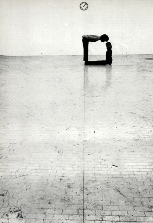 blue-voids:  Klaus Rinke - Time-Space-Body and Action, 1972