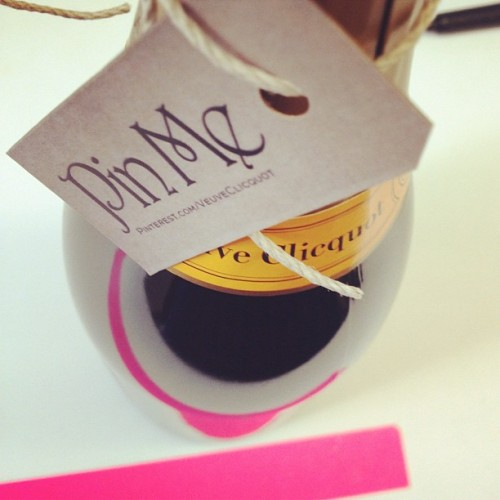katespadeny:  we'll pin you and then we will drink you @veuveclicquot #popfizzclink (at kate spade new york)