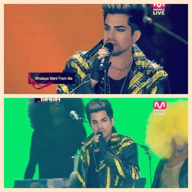 Adam Lambert - ADAM LAMBERT IN THE BLONDS AT #MAMA2012!!!
