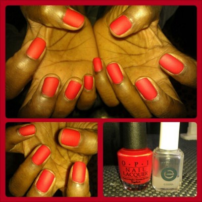 #Red #Matte #Nails please leave comment  (at Colleen's Nail Bar)