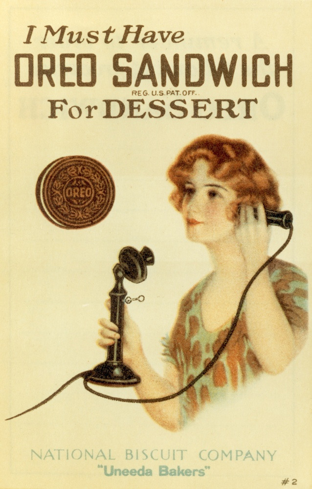 workingclassdandy:  maudelynn:  Vintage Oreo Advert!  I want an Oreo sandwich!!