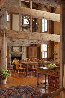 infinite-paradox:  Love the vintage beams used here.