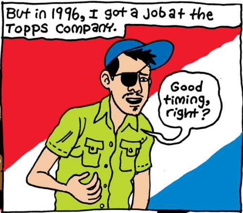 I was once Bazooka Jon. Art by Noah Van Sciver