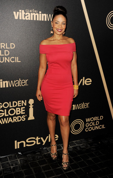 Sanaa Lathan at the Hollywood Foreign Press Association's and InStyle's celebration of the 2013 Golden Globes Awards Season in Hollywoodlast night.