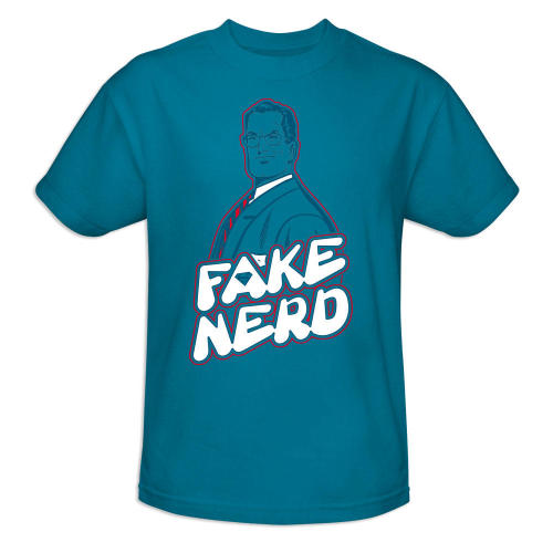 Superman Fake Nerd T-shirt, $24.95, DC Comics This shirt is relevant.