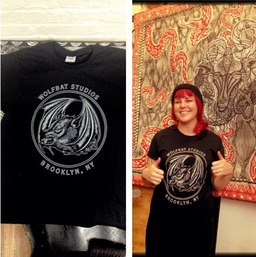 Brooklyn, NY: Dennis McNett has some new Wolfbat Studios shirts available either at the studio or you can email him to grab one of these sweet tees at wolfbatinfo@gmail.com