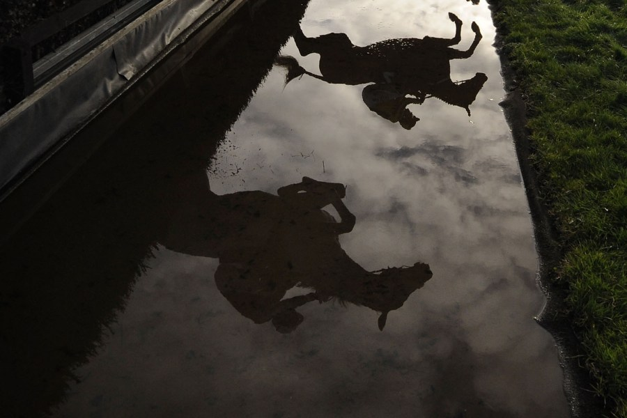 Nov. 29, 2012. Runners are reflected in the water as they clear the water jump in The Burges Salmon Novices' Limited Handicap Steeple Chase at Newbury racecourse in Newbury, England. (Photo: Alan Crowhurst—Getty Images) From protests in Egypt and life in the aftermath of the Gaza conflict to Myanmar's refugee camps and volcanic lava spilling into the ocean in Hawaii, TIME presents the best pictures of the week. See more on LightBox.