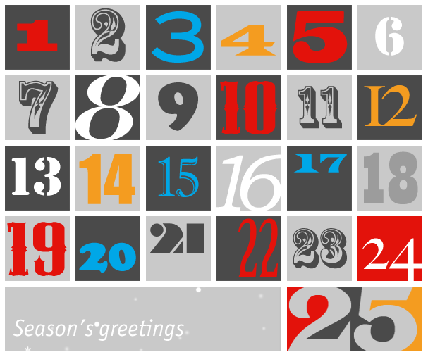 The 2012 Daily chart Advent calendar via Rob Kimball