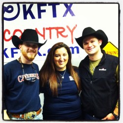 Cody Johnson and John Slaughter stopped by for Amys Taste of Texas :) 11/29