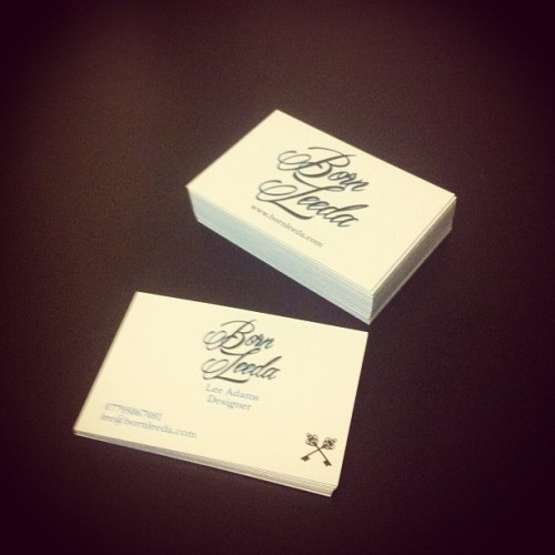 New Born Leeda Business Cards!