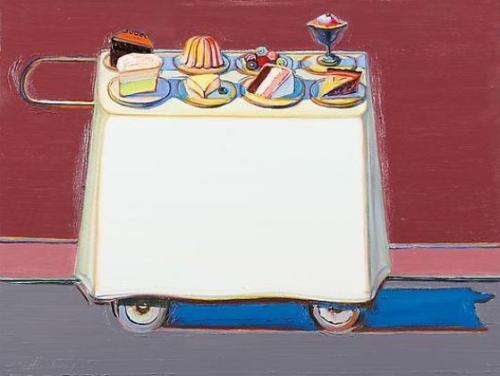 Cafe Cart by Wayne Thiebaud 2012