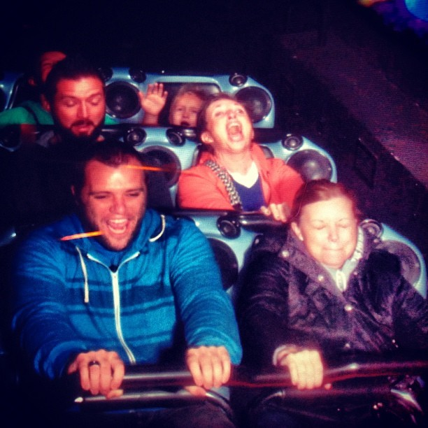 Love this picture!!! Ha ha!! (at Space Mountain)