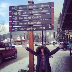 Kyla is discovering Banff