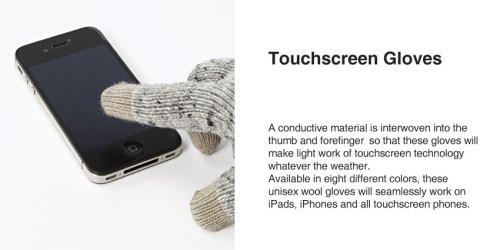 MUJI touchscreen gloves