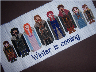 gameofthrones:  Starks cross-stitch