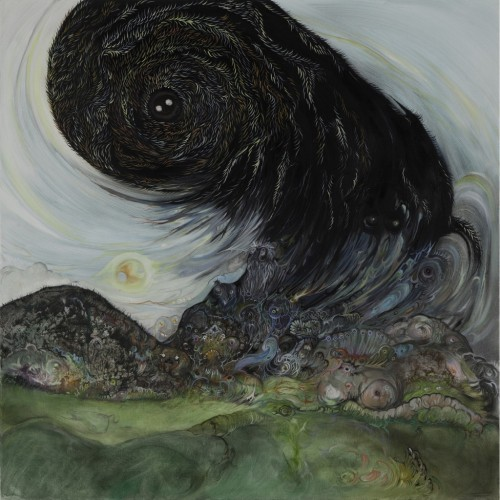 "darksilenceinsuburbia:  Vidya Gastaldon. Rainbow gathering, 2012. Oil on canvas, 31 1/2 x 31 1/2"".  Photo: Nathalie Rebholz"