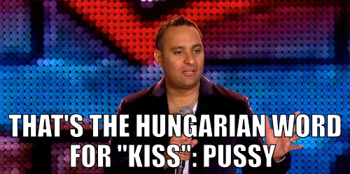 Click the image for a language lesson from Russell Peters in an uncensored clip from his new stand-up special, The Green Card Tour, premiering tonight at 1am/12c.