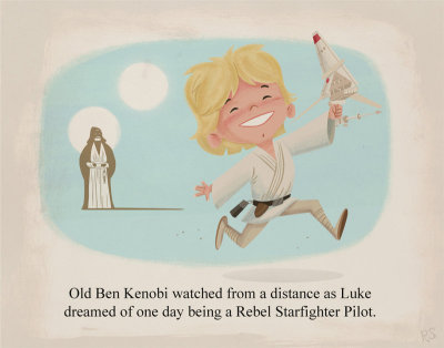 Young Luke Skywalker Created by Ridd Sorensen (via tiefighters)