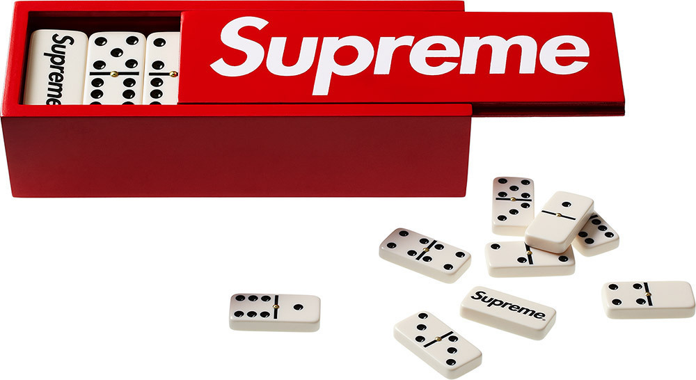 "Supreme Gifts By Jauretsi Supreme is known for their coveted skate-culture goods, from boards to caps. The brand has managed to remain relevant since its 1994 inception with recent campaigns featuring everyone from Kate Moss to Lady Gaga. If you missed out on some of their sold-out editions (which fly off the shelves), take a peek at eBay's inventory for more ""out-of-box"" gifts such as their Supreme Domino Set or Supreme Harmonica. These are veritable collector items for any Supreme or skater fan. Trust us, you'll earn cool points from this gift if bestowed upon the right subject.  (Photo: Courtesy of eBay seller Poofyo)"