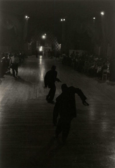 "blackcontemporaryart:  Roy DeCarava (1919-2009) Dancers uptown ""club dance"", 1956."