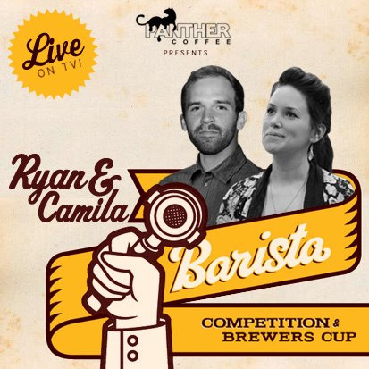 JOIN US IN HOUSE at Panther Coffee Wynwood to watch our very own Camila Ramos and Ryan Hall perform and compete in the 2013 South East Regional Barista Competition & Brewers Cup, LIVE!  Live Stream Here http://bit.ly/live_SERBC  Much love and support from everyone here at Panther!!! For more deets follow us on Twitter @panthercoffee and like us on Facebook  * Thanks Peele Lemos ( @pllemos / peelelemos.com ) for the awesome image ;) you rock *