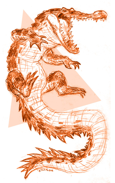 Cannot wait to go home for the holidays… Here's an orange crocodile.