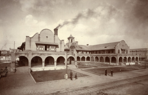 Castaneda Hotel Las Vegas, New Mexico - ca 1904 Photo By: Louis C. McClure Negative #014705