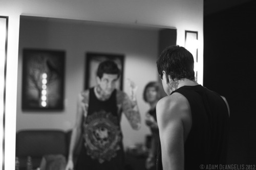 situationsare:  Of Mice and Men: Austin Carlile Austin preparing for the show. This photo is available for purchase here.
