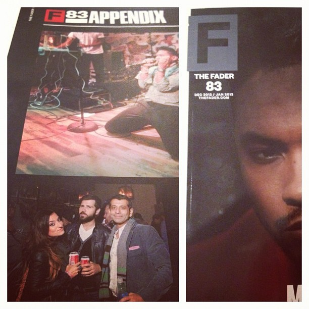 Spotted in the back pages of @thefader with @milimarcetic or @justmili and @kaviohri … Shouts out to @andycohn @faderfam (at Music Dealers NYC)