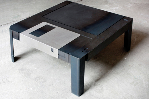 jaymug:  Floppy Disk Table
