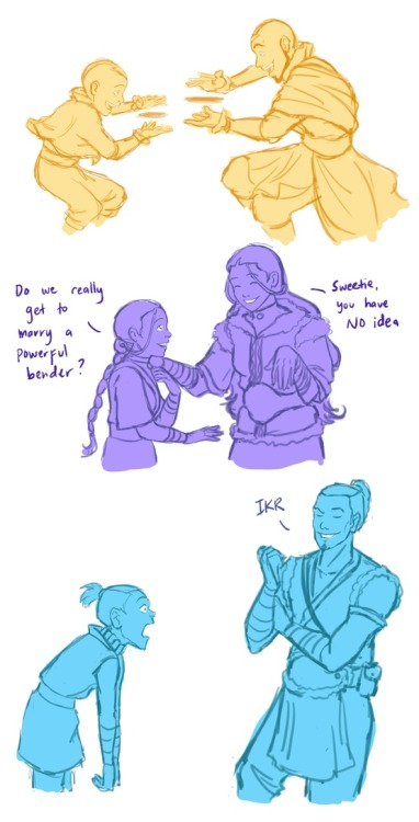 Avatar characters with their older selves http://bit.ly/N71Ll4