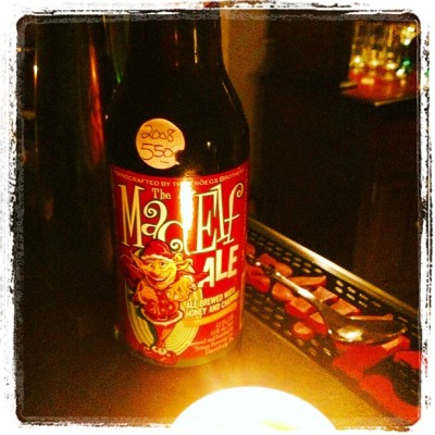 Aged 2008 Mad Elf Ale. @mikeyil isn't that your drank?