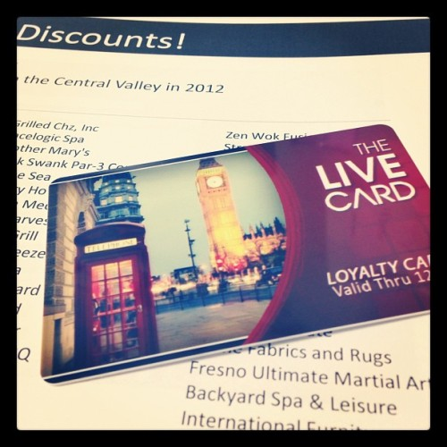 Just got my #livediscounts card! Probably the coolest one ever! Do you have your yet?! #LondonEngland #bestdealsintown #letsgoshopping  (at Live Discounts)