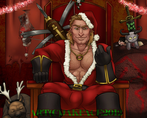 DA2 - Santa Varric, Baby by ~jakface He's got a present for you in his sack, and it's not a racecar…….!!!!!!! Woooo! And with that, the DA Calendar pictures are all uploaded. Thanks for waiting all year, guys. Hope you enjoyed it! :D