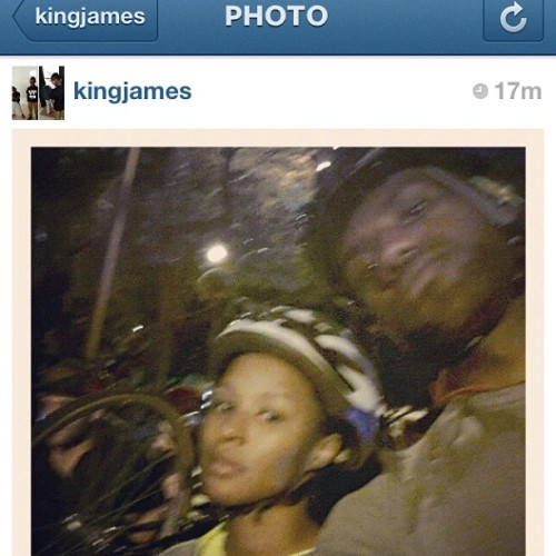 statebicycle:  LeBron James is at critical mass Miami right now.