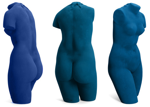 thedoppelganger:  Blue 3.0 (Consumer Calibration), Julian Garcia, 2012 / Facebook Blue, Tumblr Blue and Twitter Blue on sculpture