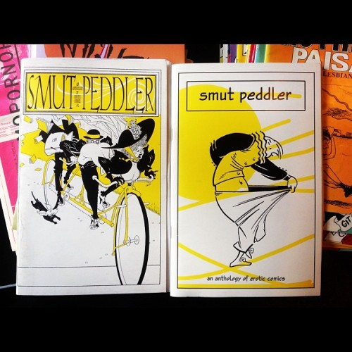 acrossmydesk:  Smut Peddler: an anthology of erotic comics. #csclibrary #acrossmydesk