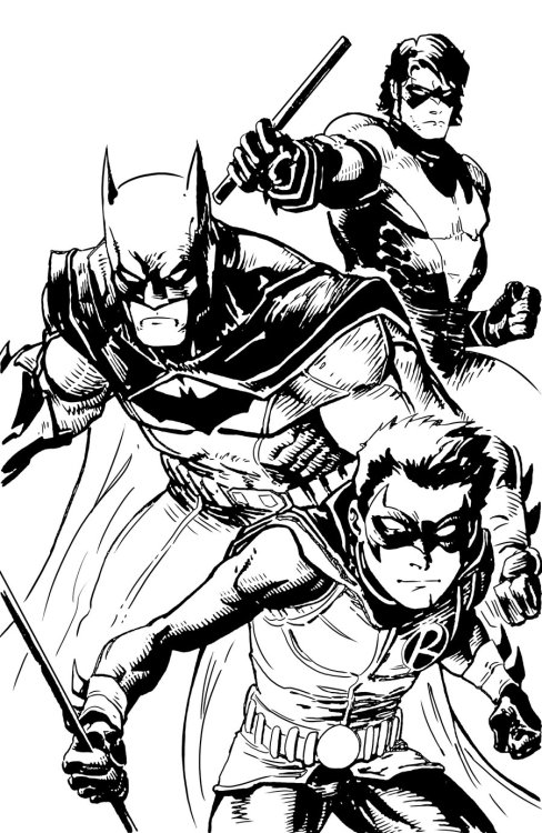 andresisbatman:  Batman, Nightwing and Robin by ~PhillieCheesie