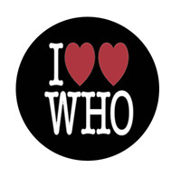DOCTOR WHO I Love Who - 1 Inch Pinback Button Pin Badge - $1.49 http://www.etsy.com/shop/ButtonsMagnetsMore