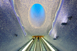 Toledo Metro station in Naples.