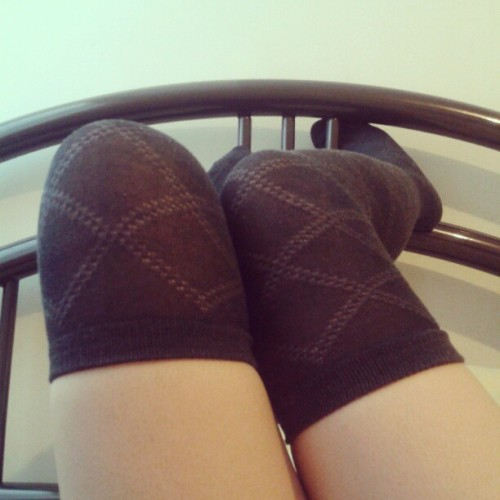 Knee high socks en el invierno :3