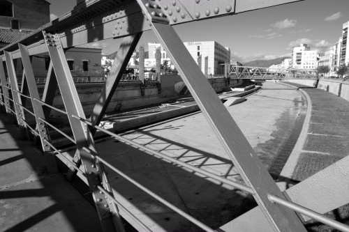 Bridge over the dried up Guadalmina river. Malaga, November 2012.
