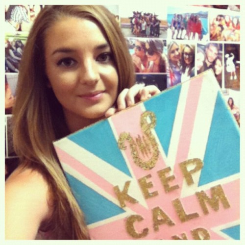 In true British style, I am 'Keeping Calm' because I know that this time next week I will be home in ENGLAND. So excited for Christmas times.