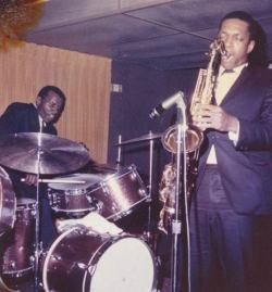 bainer:  rootsnbluesfestival:  Coltrane  There are two musicians in this photo, so please give Elvin Jones a little love, people.